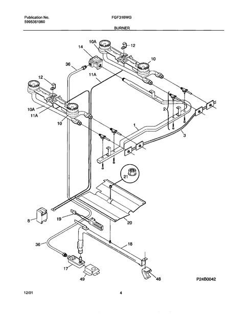 Frigidaire Fgf316wgsk Parts List