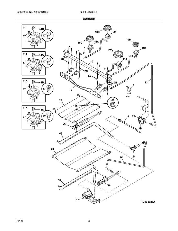 electrolux 316237805 ignitor  orifice as