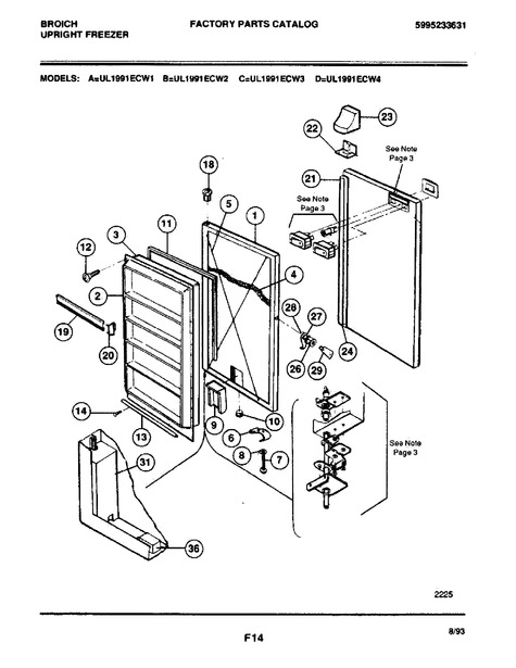 Frigidaire Ul1991ecw2 Parts List