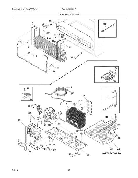 Frigidaire Fghb2844lpe Parts List