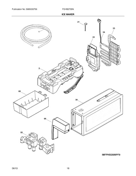 frigidaire fghb2735np3 parts list