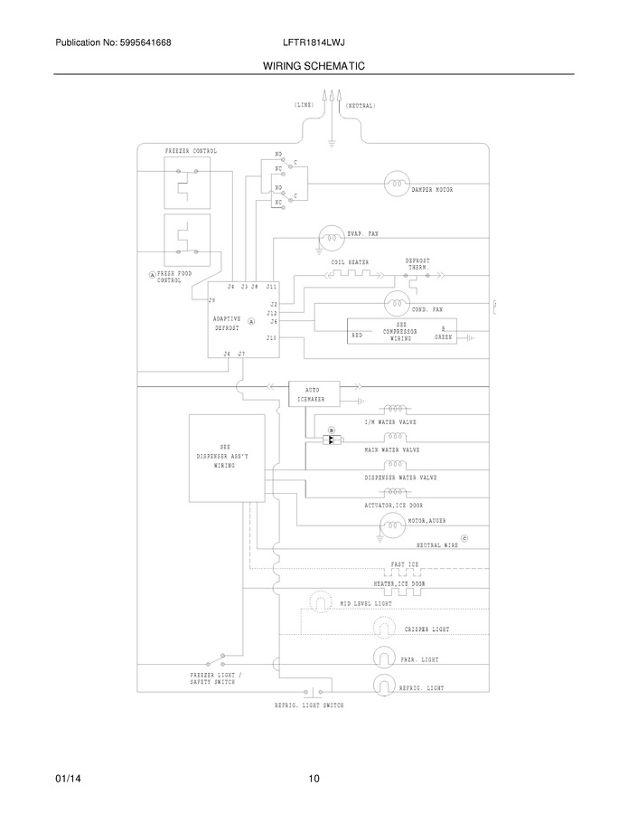 frigidaire valve wiring diagram frigidaire lftr1814lwj parts list coast appliance parts  frigidaire lftr1814lwj parts list