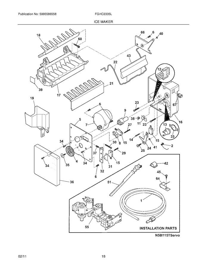 Frigidaire FGHC2335LP2 Parts List | Coast Appliance Parts on