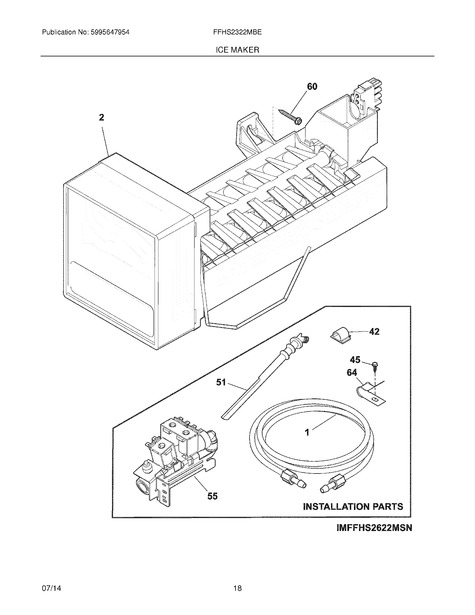 Frigidaire FFHS2322MBE Parts List | Coast Appliance Parts on