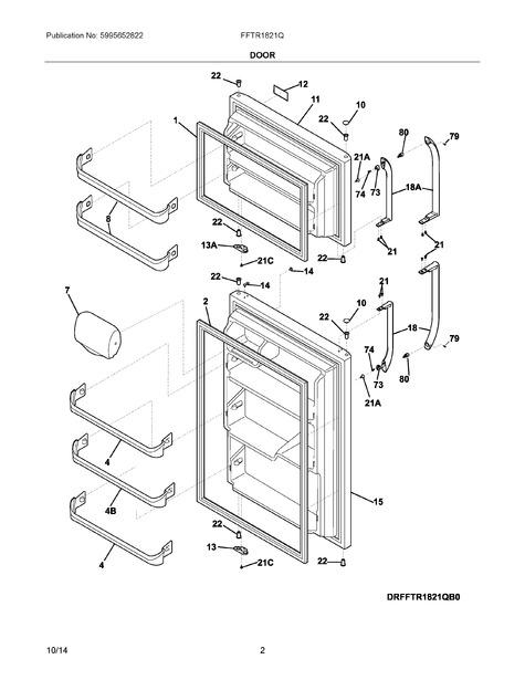frigidaire fftr1821qs0 parts list