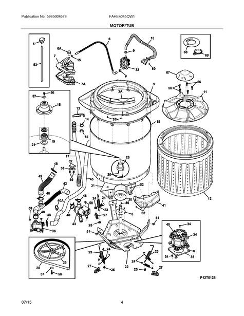 Frigidaire Fahe4045qw1 Parts List