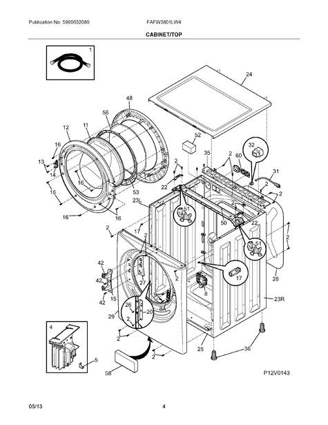 Frigidaire Fafw3801lw4 Parts List