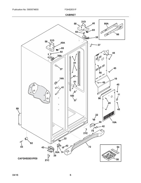 frigidaire fghs2631pf4a parts list