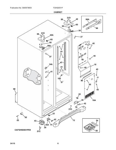 Frigidaire FGHS2631PF4A Parts List   Coast Appliance Parts