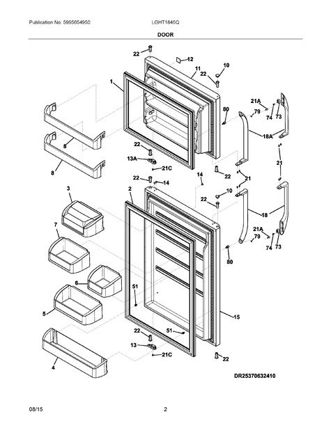 Frigidaire Lght1846qf0 Parts List