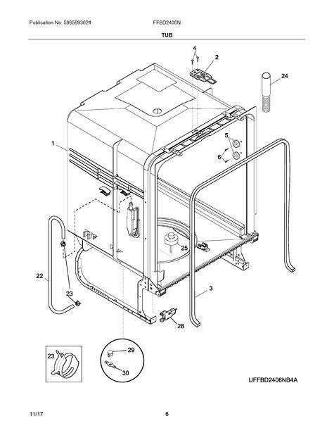 frigidaire ffbd2406ns10b parts list