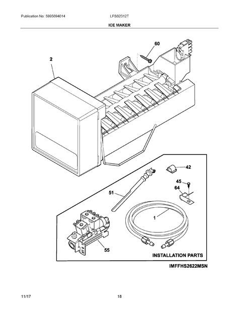 frigidaire lfss2312te0 parts list
