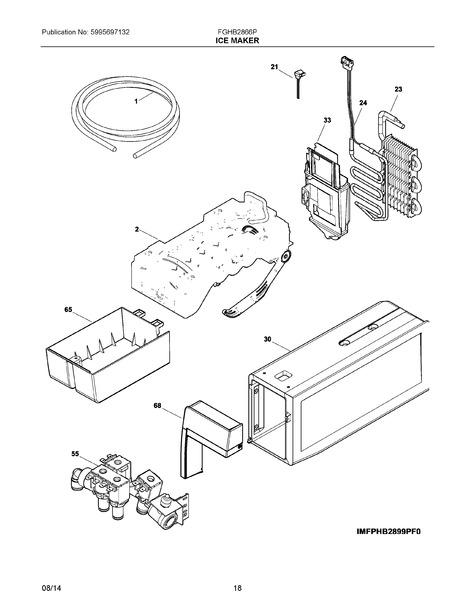 frigidaire fghb2866pf3 parts list