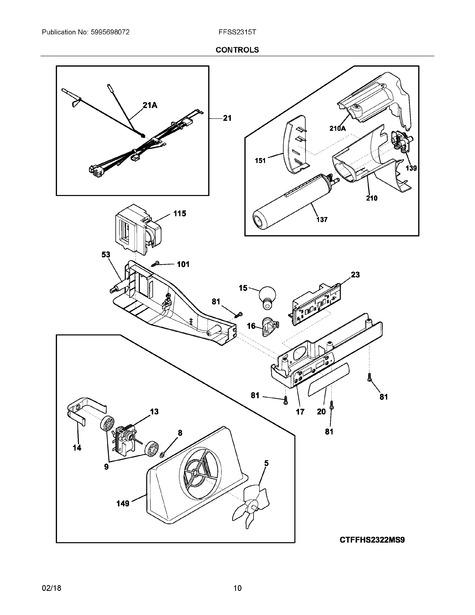 frigidaire ffss2315te0 parts list