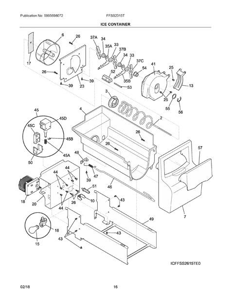 frigidaire ffss2315ts0 parts list