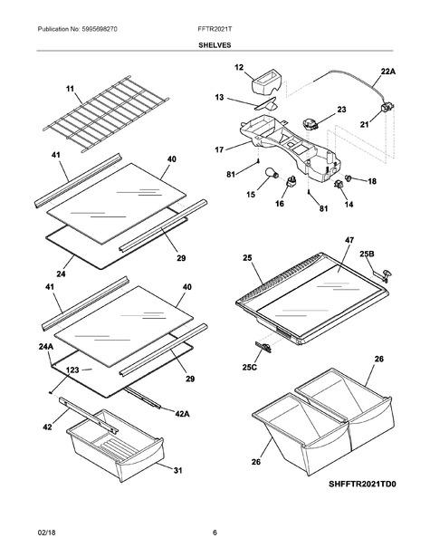 frigidaire fftr2021tw1 parts list