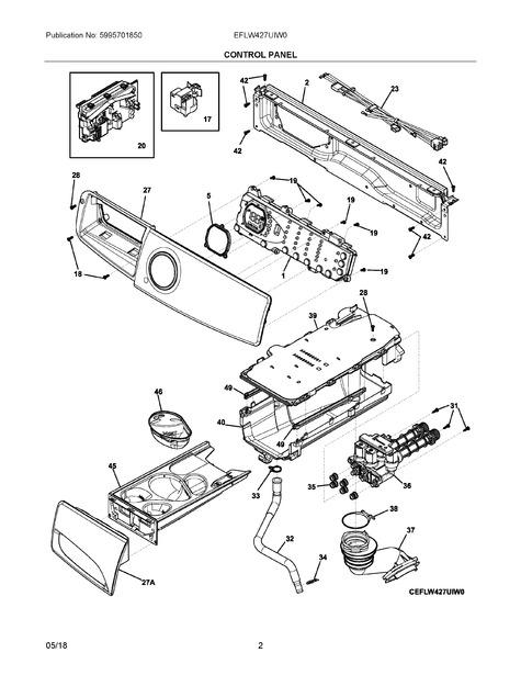 Frigidaire Eflw427uiw0 Parts List