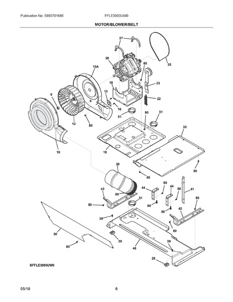 Frigidaire Ffle3900uw0 Parts List