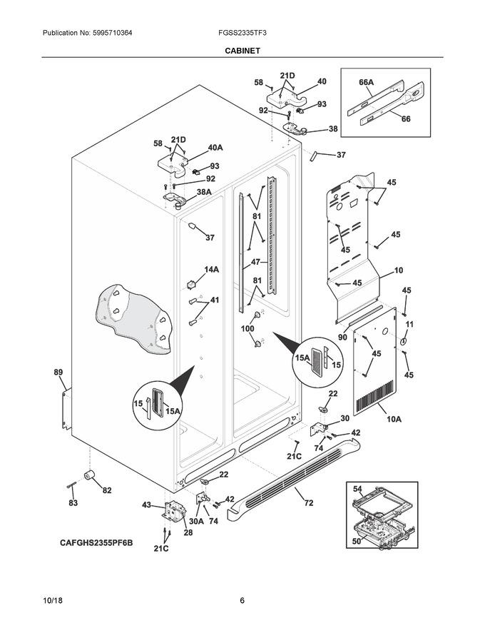 Electrolux 241911705 Coast Appliance Parts