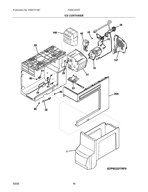 Frigidaire Fgsc2335td4 Parts List