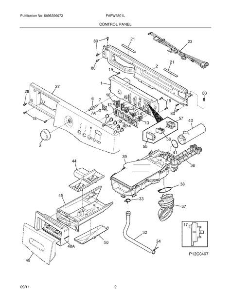 frigidaire fafw3801lw2 parts list