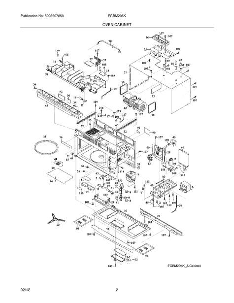 frigidaire fgbm205kfa parts list