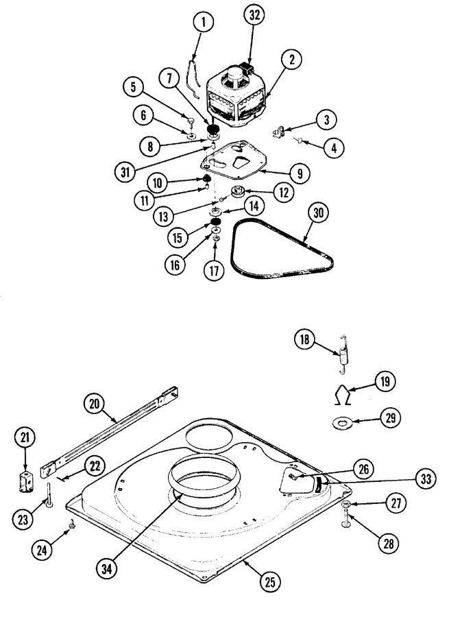 Maytag HWA2507GV Parts List | Coast Appliance Parts on