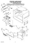 Diagram for 03 - Freezer Liner Parts