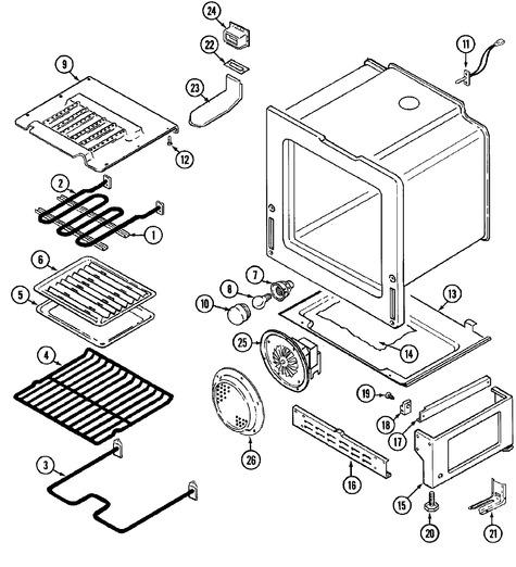 maytag fce30610w parts list