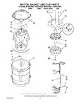 Diagram for 03 - Motor, Basket And Tub Parts