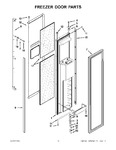 Diagram for 10 - Freezer Door Parts