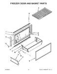 Diagram for 08 - Freezer Door And Basket Parts