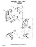 Diagram for 11 - Dispenser Front Parts