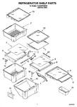 Diagram for 03 - Refrigerator Shelf Parts