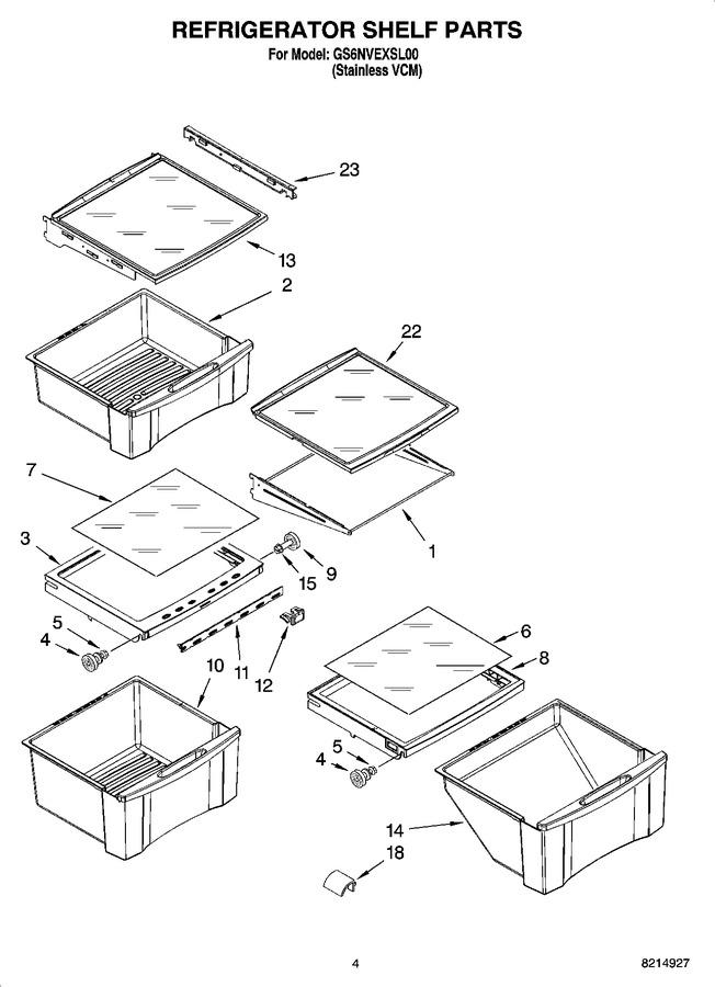 Whirlpool 2223288 Refrigerator Shelf Pan Assembly