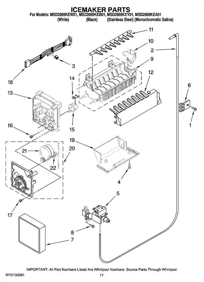Whirlpool Ice Maker Parts