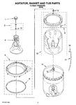 Diagram for 03 - Agitator, Basket And Tub Parts