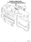 Diagram for 02 - Control Panel Parts