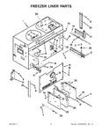 Diagram for 04 - Freezer Liner Parts