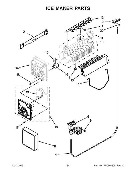 whirlpool wrs325fdam02 parts list
