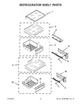 Diagram for 08 - Refrigerator Shelf Parts