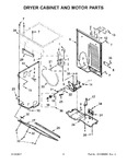 Diagram for 04 - Dryer Cabinet And Motor Parts