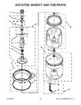 Diagram for 11 - Agitator, Basket And Tub Parts