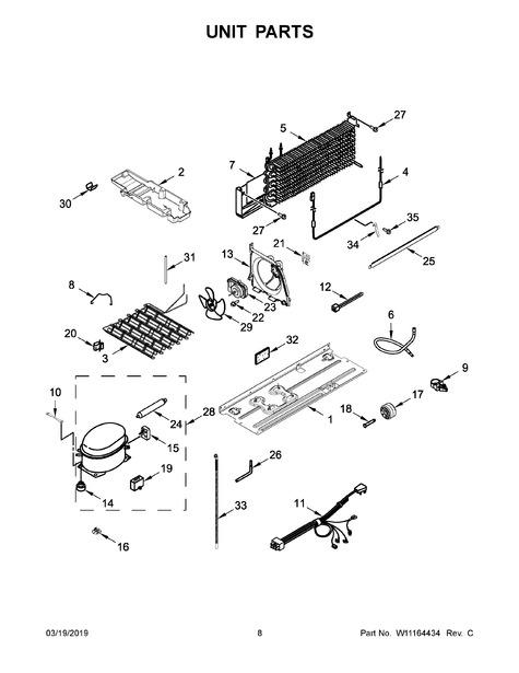 whirlpool wrt311fzdw01 parts list