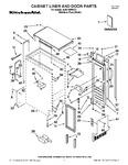 Diagram for 01 - Cabinet Liner And Door Parts