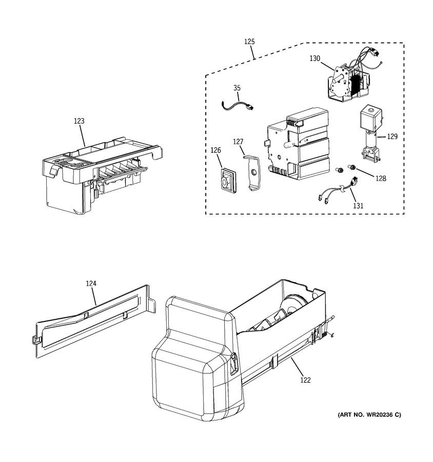 GE PFSF6PKWBWW Parts List | Coast Appliance Parts | Ge Ice Maker Dispenser Wiring Schematic |  | Coast Appliance Parts