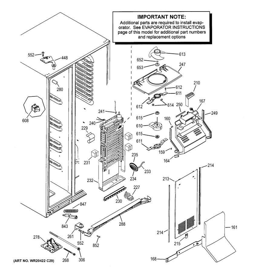 GE CZS25TSEBFSS Parts List | Coast Appliance Parts on
