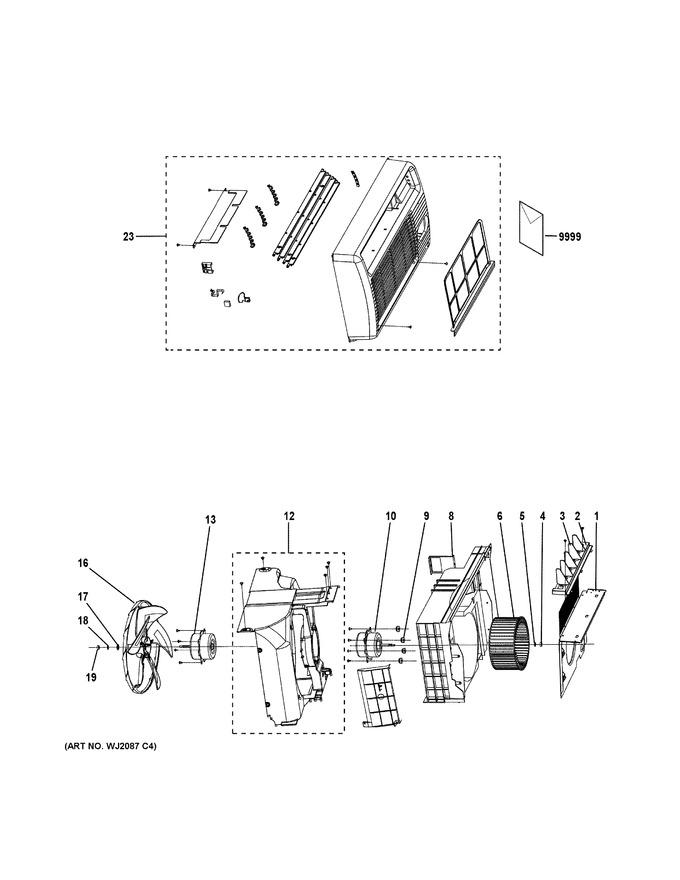 general electric wj95x10030 fan motor coast appliance parts. Black Bedroom Furniture Sets. Home Design Ideas