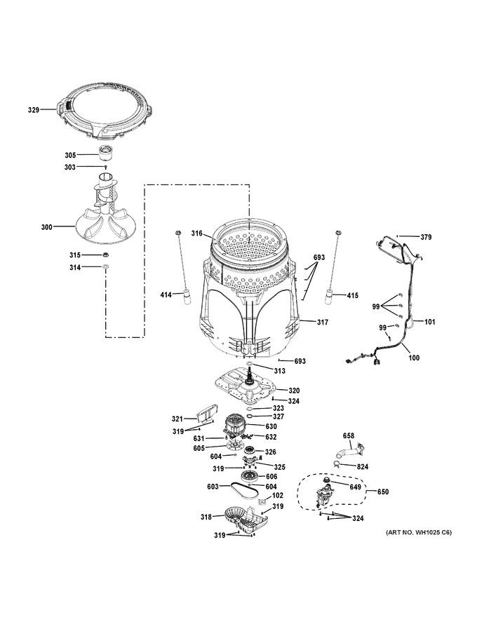 general electric wh23x24178 drain pump