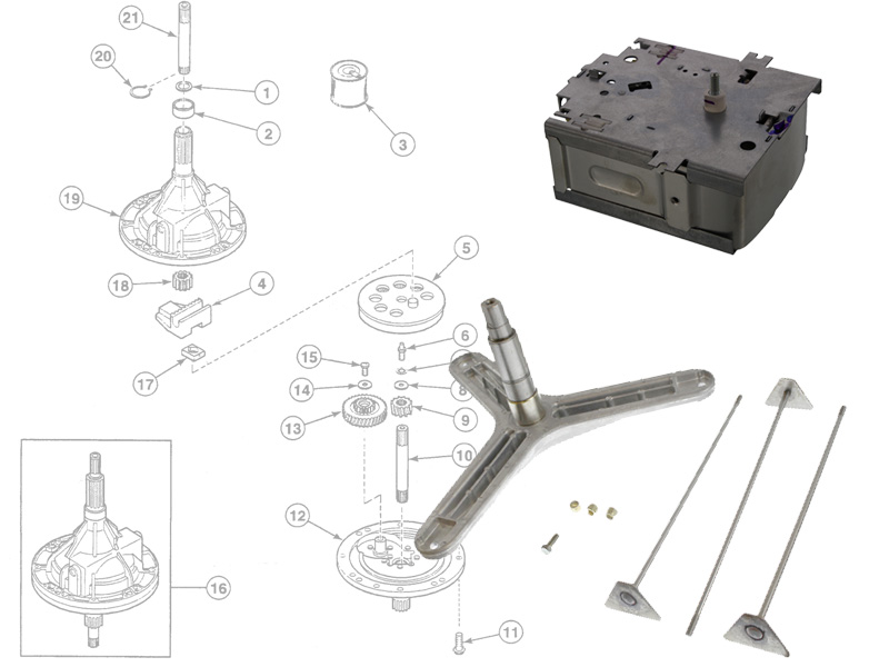 Speed Queen Appliance Parts